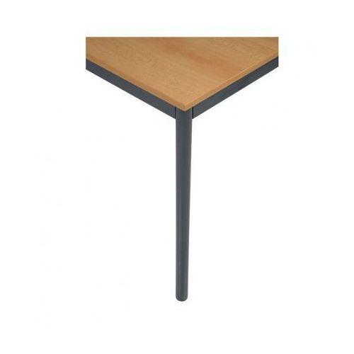 Stół kuchenny - okrągłe nogi, ciemnoszara konstrukcja, 1600x800 mm marki B2b partner