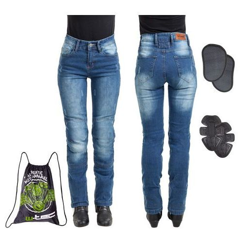 Damskie jeansowe spodnie motocyklowe W-TEC Panimali, Niebieski, XXL