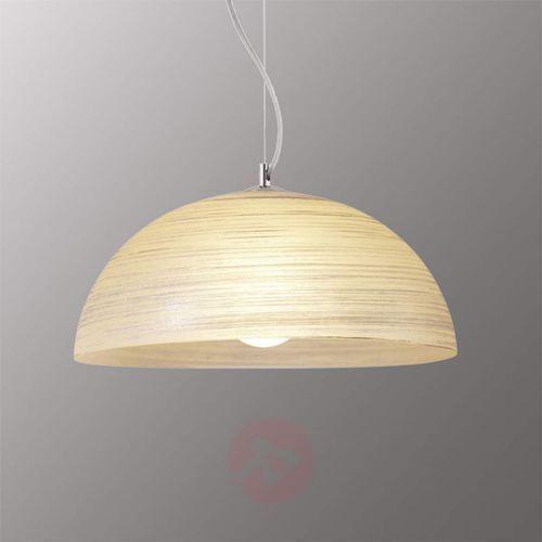 Ręcznie zdobiona lampa wisząca modesto, burszt. marki Viokef