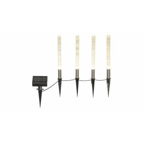 Rabalux Lumini 7876 lampa stojąca ogodowa IP44 4x0,24W Led czarny/złoty