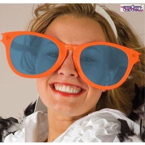 Okulary jumbo pomarańczowe - przebrania i dodatki dla dorosłych marki Aster