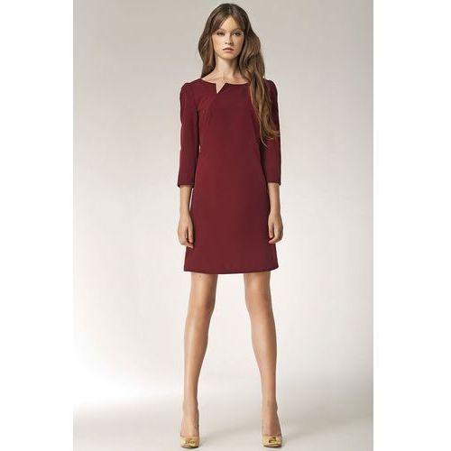 Sukienka - bordo - S39, kolor czerwony