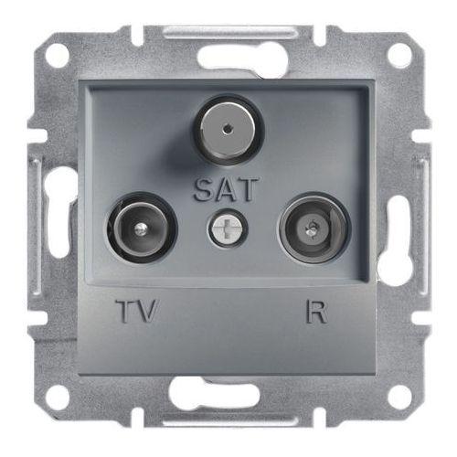 Gniazdo RTV-SAT Schneider Electric Asfora końcowe stal (3606480730573)