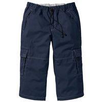 Spodnie 3/4 loose fit ciemnoniebieski, Bonprix