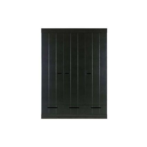 Woood szafa connect 3-doors/drawer czarna [fsc] 360305-z