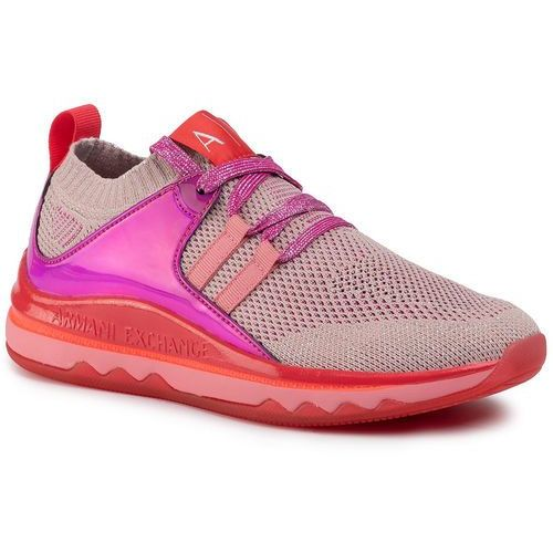 Sneakersy - xdx007 xv301 d848 desert rose/fuchsia, Armani exchange
