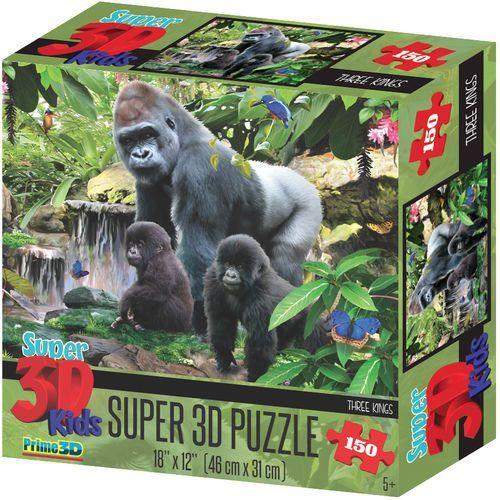 puzzle 3d małpia rodzina 150 el. marki Lamps