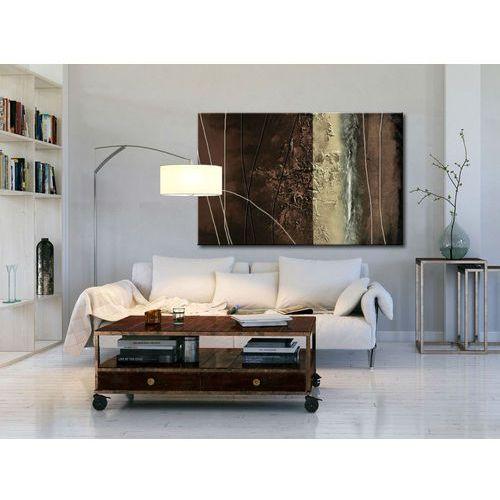 Obraz nowoczesny - brązowa abstrakcja
