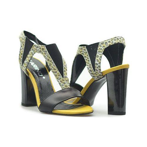 Sandały 1978/150 czarne/żółte lico marki Karino