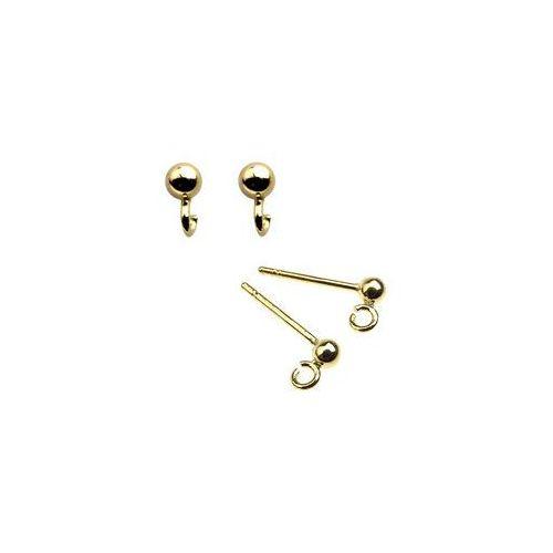 925.pl Sztyft kulka 3 mm / baza do kolczyków, złoto próby 585