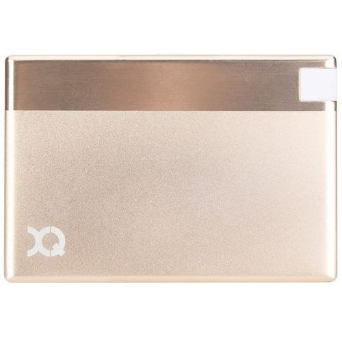PowerBank XQISIT 1350 mAh Ultra Slim MicroUsb Złoty