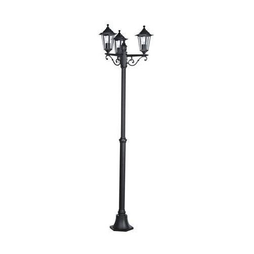 Eglo Lampa stojąca laterna 22145 oprawa zewnętrzna 4 3x60w e27 ip44 192cm czarna (9002759221454)