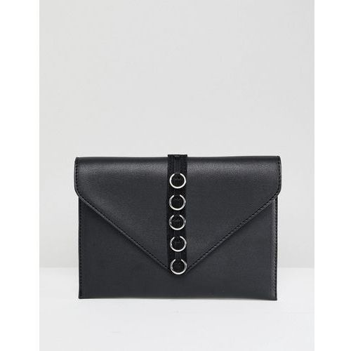 French Connection Envelope Purse With Hardware Detail - Black