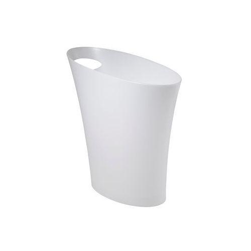 UMBRA - Kosz na śmieci, metaliczny biały, SKINNY - D2 Design - Zapytaj o rabat!