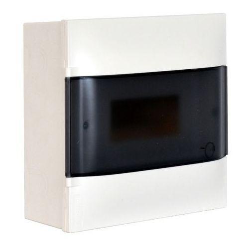 Rozdzielnica naścienna 1 x 8 modułów drzwi dymne marki Legrand