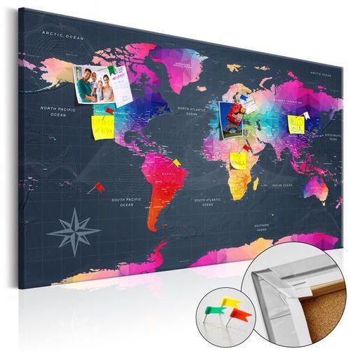 Obraz na korku - kolorowe kryształy [mapa korkowa] bogata chata marki Artgeist