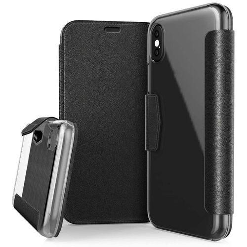 X-Doria Engage Folio - Etui iPhone X z kieszeniami na karty (Black) (6950941460835)