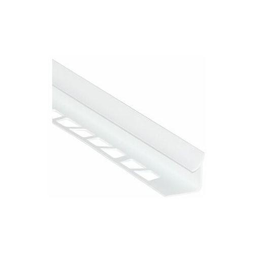 Profil do glazury wewnetrzny ćwiercwałek PVC 8 mm / 2.5 m Biały zimny Standers