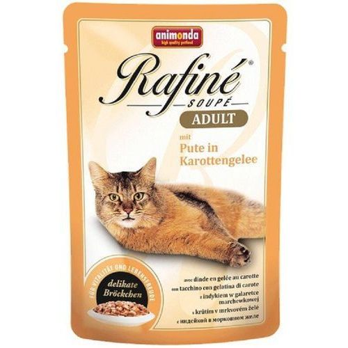ANIMONDA Cat Rafine Soupe Adult smak:indyk w galaretce marchewkowej 100g