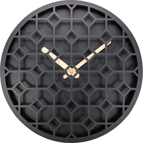 Nextime Zegar ścienny discrete czarny (3215 zw) (8717713019114)