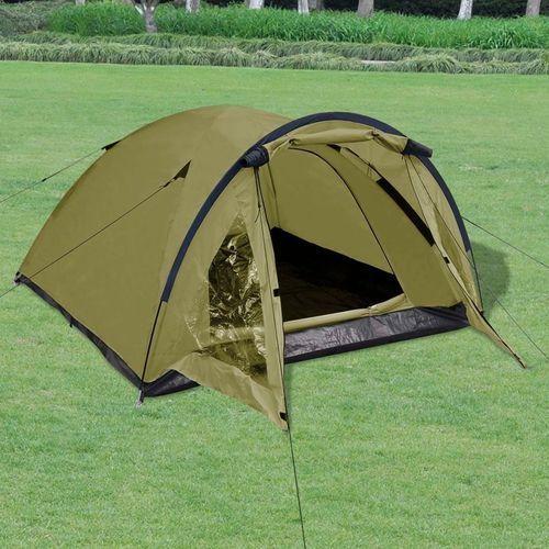 vidaXL 3-osobowy namiot zielony