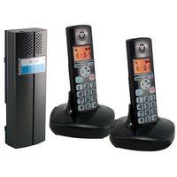 EURA CL-3622B Domofon bezprzewodowy, dwie słuchawki, czarny, CL-3622B  cl-3602B