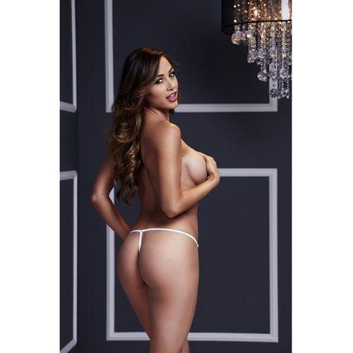 SexShop - Stringi jak sznurowane - Baci Lace Up Panty Białe - online