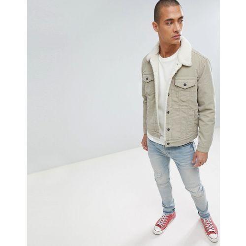Levi's type 3 borg trucker jacket chino cord - beige, Levis