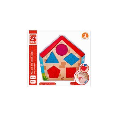 Hape puzzle, odkryj mieszkańców domku