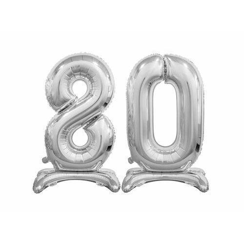 Zestaw balonów foliowych 80 srebrna - 74 cm