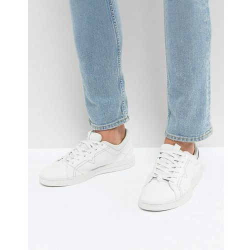 stud sole leather trainers white - white, Diesel