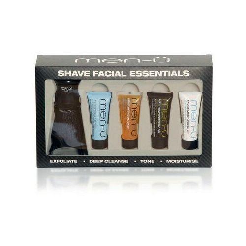 Pędzel do golenia men-u PRO BLACK, syntetyk, czarny + zestaw 4 kosmetyków 4x15ml, SFE