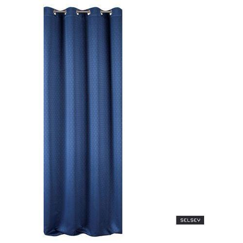 Selsey zasłona na przelotkach gwyne 135x250 cm z wzorem koniczyny marokańskiej