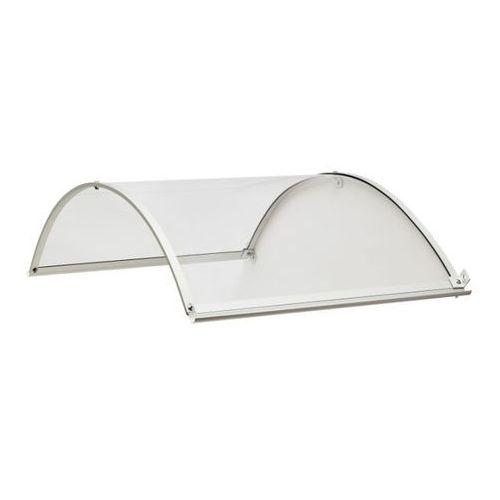 Zadaszenie aluminiowe Geom 34 x 90 x 140 cm bezbarwne srebrne (3663602883203)