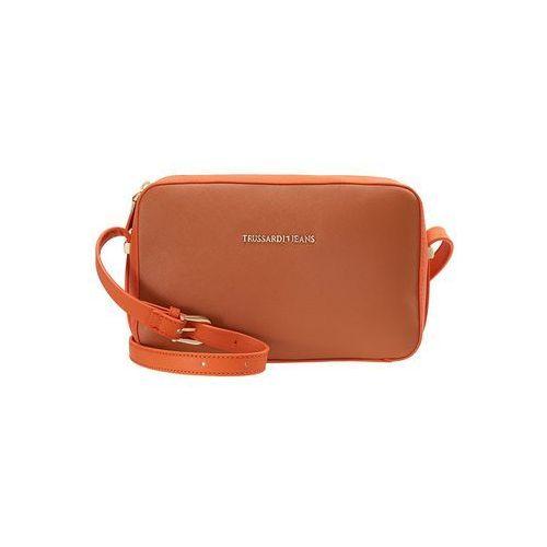 Trussardi Jeans LEVANTO CROSS BODY Torba na ramię cuio orange, kolor brązowy