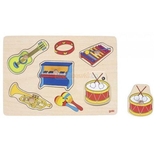 Układanka z uchwytami- instrumenty muzyczne, układanka dźwiękowa, Goki 57520, GOKI-57520