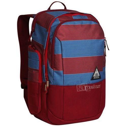 Ogio Clark plecak miejski na laptopa 16'' / Biggie Stripe - Biggie Stripe, kolor czerwony