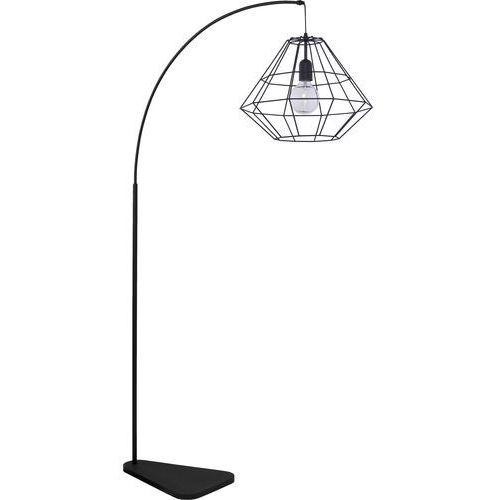 Lampa druciana stojąca podłogowa diament TK Lighting Diamond 1x60W E27 czarna 3010