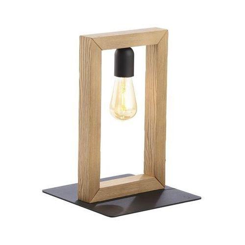 Tk lighting metro 5460 lampa stołowa lampka 1x60w e27 czarna / sosna szczotkowana marki Tklighting