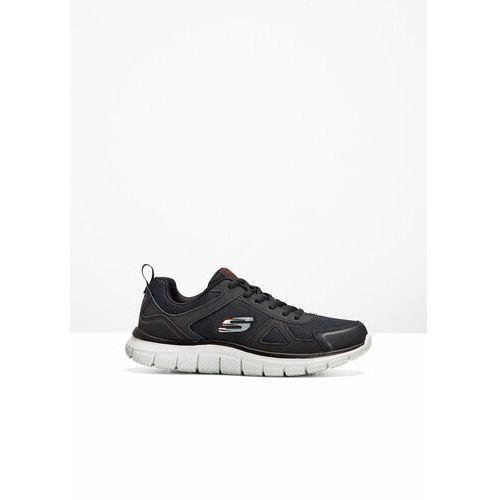 Sneakersy skechers z pianką memory czarno-biały, Bonprix, 39-47