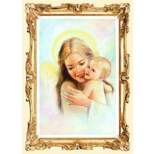 Obrazek z Aniołem Stróżem i dzieckiem