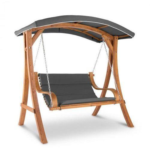 Blumfeldt Tahiti Huśtawka typu Hollywood dach przeciwsłoneczny 110 cm 2-osobowy lite drewno szary (4060656154041)