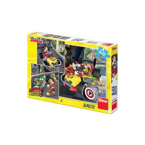Mickey a Minnie - Závodníci - puzzle 3x55 dílků The Walt Disney Company