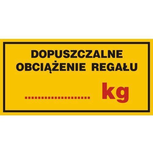 Dopuszczalne obciążenie regału....... kg marki Top design