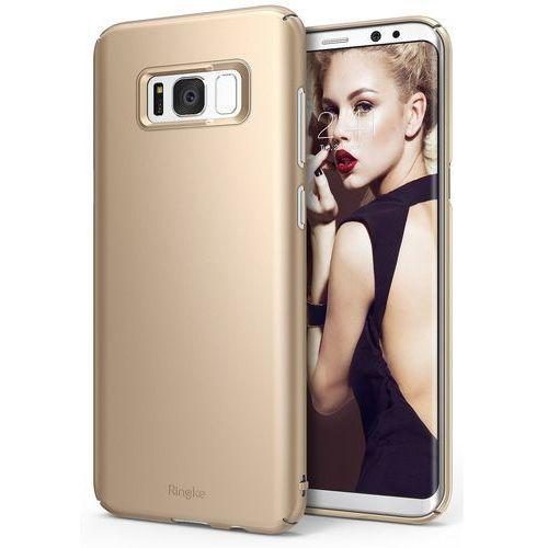 Cienkie Etui Ringke Slim Samsung S8 - Złoty, 8809525015238