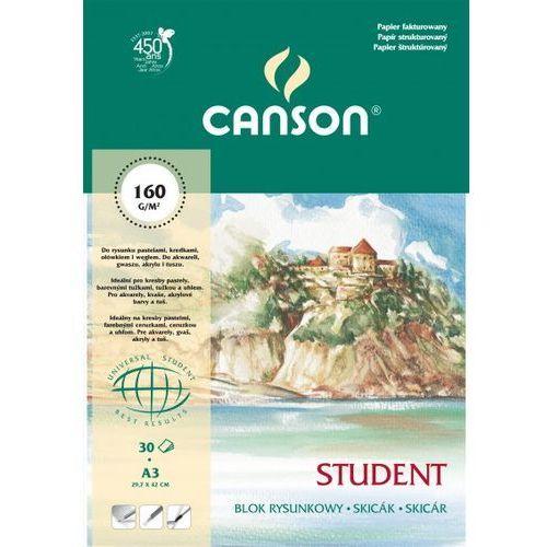 Blok rysunkowy a3/30 kartek student - marki Canson