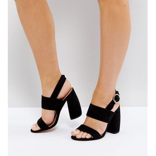 ASOS HEALEY Wide Fit Heeled Sandals - Black