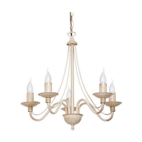 Lampa wisząca świecznikowa zwis Aldex Róża 5x40W E14 prowansalski kremowy 397F9, 397F9