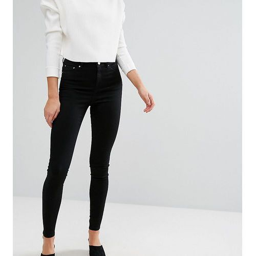 ASOS TALL RIDLEY High Waist Skinny Jeans in Clean Black - Black, jeans