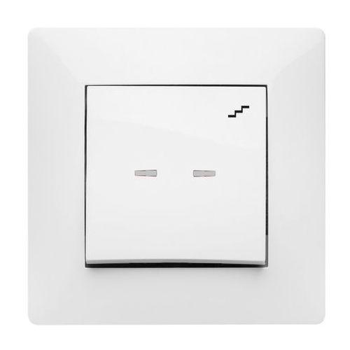 Łącznik schodowy pojedynczy Elektro-Plast Volante z podświetleniem biały (5902012984956)